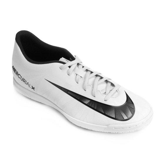 39f2962cb9aef Chuteira Futsal Nike Mercurial X Vortex 3 CR7 IC - Branco+Preto