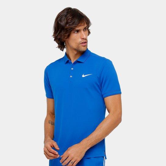 Camiseta Polo Nike Team Masculina - Azul - Compre Agora  709215baf1129