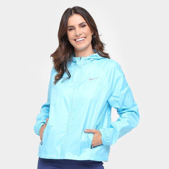 b37d19f0e4 Jaqueta Nike Shield Com Capuz Feminina - Azul Claro