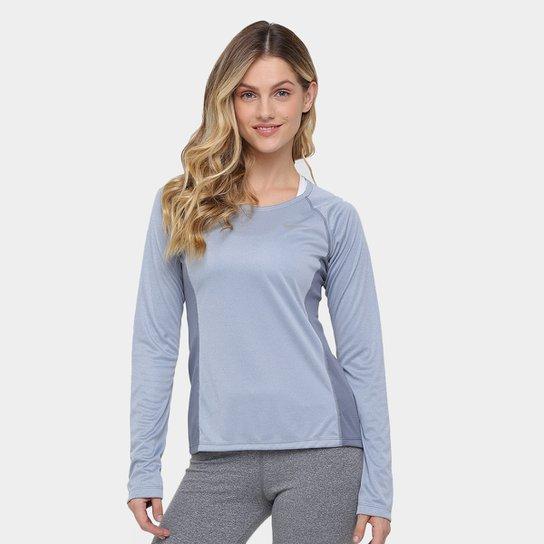 e2223b3677a113 Camiseta Nike Dri-Fit Miler Top Manga Longa Feminina - Cinza