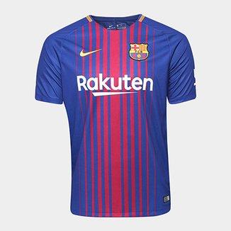 e11d48dfe0b51 Camisa Barcelona Home 17 18 s nº Torcedor Nike Masculina