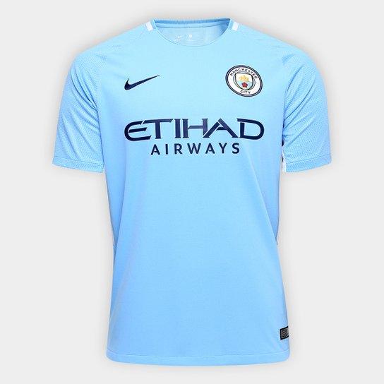 a60643439a7aa Camisa Manchester City Home 17/18 s/nº Torcedor Nike Masculina - Azul Claro