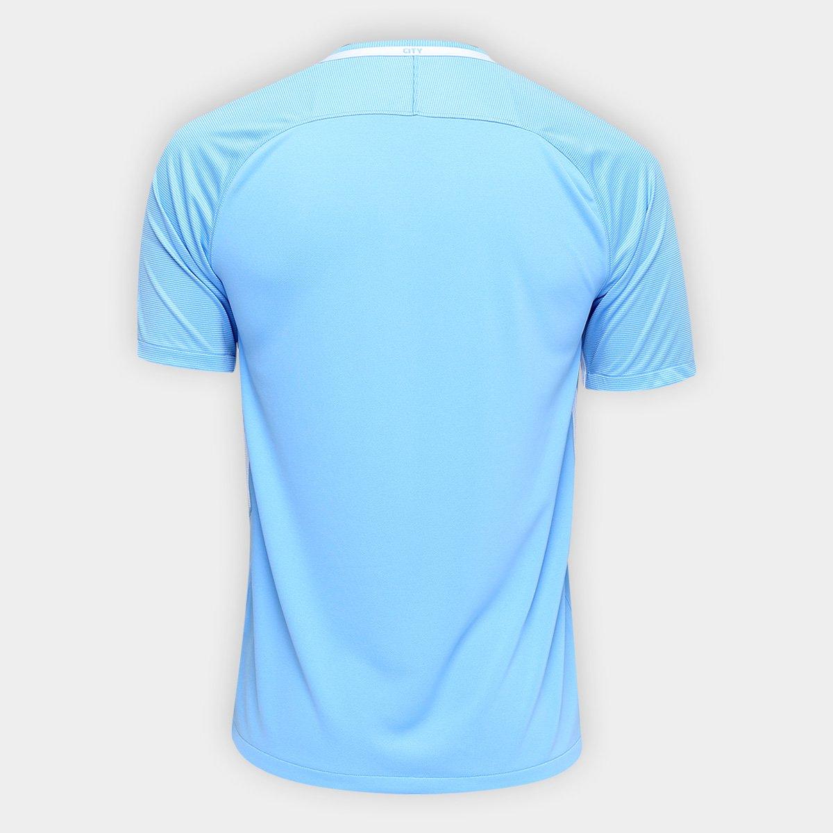 a585a26c22521 Camisa Manchester City Home 17/18 s/nº Torcedor Nike Masculina ...