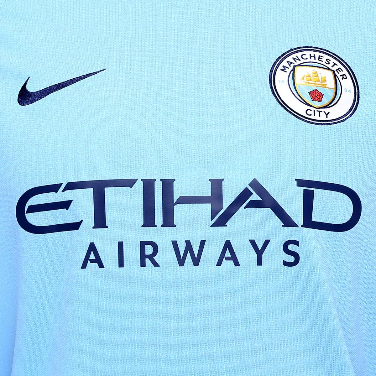 be7ad9fca84cc Camisa Manchester City Home 17/18 s/nº Torcedor Nike Masculina | Livelo  -Sua Vida com Mais Recompensas