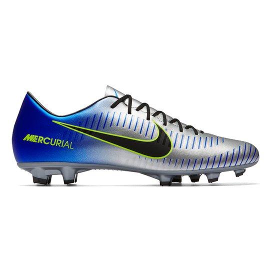 Chuteira Campo Nike Victory 6 Neymar Jr FG - Azul e Preto - Compre ... 24d29594177ef