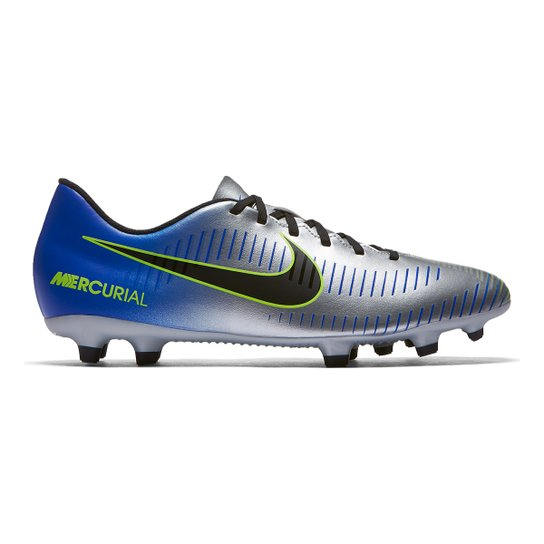 abffef8427 Chuteira Campo Nike Mercurial Vortex 3 Neymar Jr FG - Azul+Preto