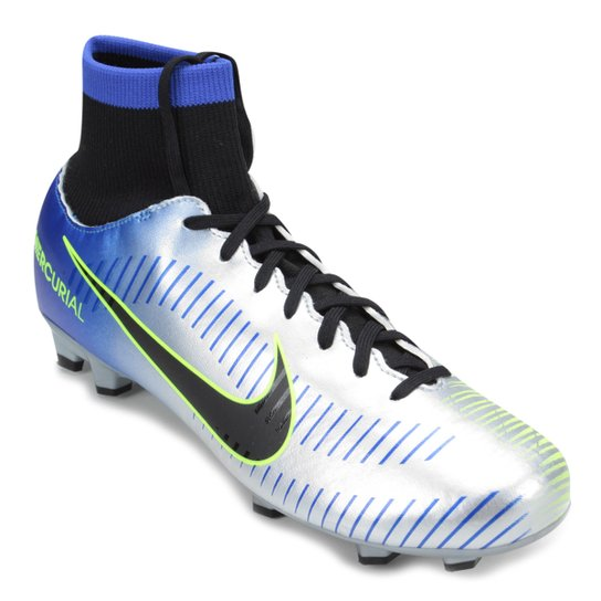 038704a9ce506 Chuteira Campo Nike Mercurial Victory 6 DF Neymar Jr FG - Azul e ...