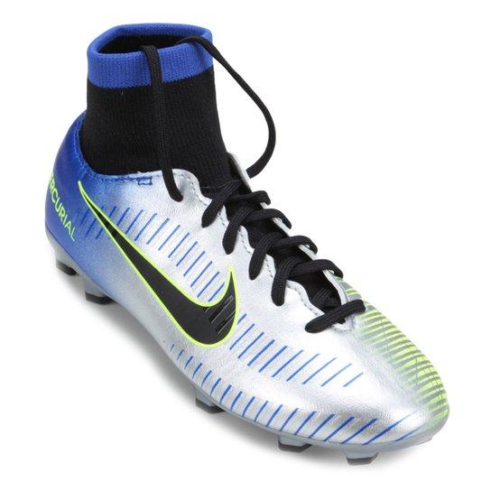 Chuteira Campo Infantil Nike Mercurial Victory 6 DF Neymar Jr FG -  Azul+Preto 68c09a37e7574