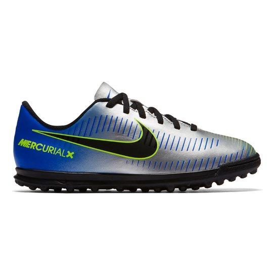 1fed6d82e Chuteira Society Infantil Nike Mercurial Vortex 3 Neymar Jr TF - Azul+Preto