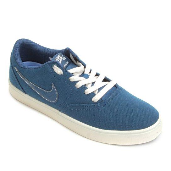 Tênis Nike Wmns Sb Check Solar Cnvs Feminino - Azul - Compre Agora ... f54894cc39262
