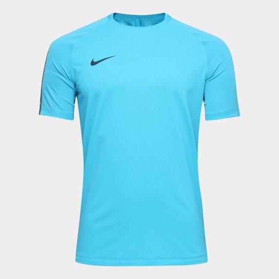 Camisa Nike Breathe Squad Masculina - Azul - Compre Agora  4c40265e20d19