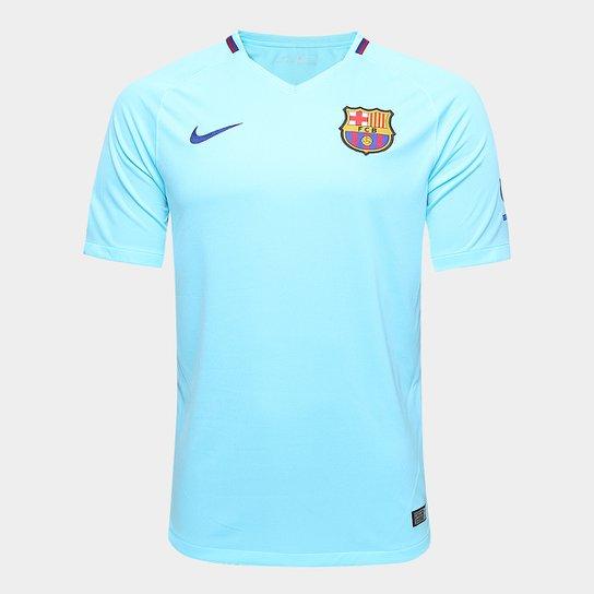 Camisa Barcelona Away 17 18 s n° Torcedor Nike Masculina - Azul Claro 4f06a08911b12