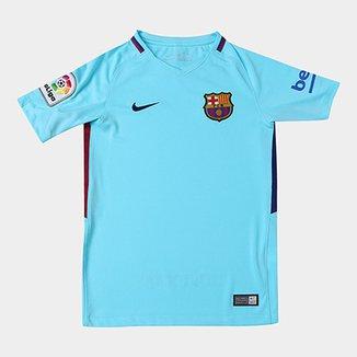 5022f42fc0163 Camisa Barcelona Juvenil Away 17 18 s n° - Torcedor Nike