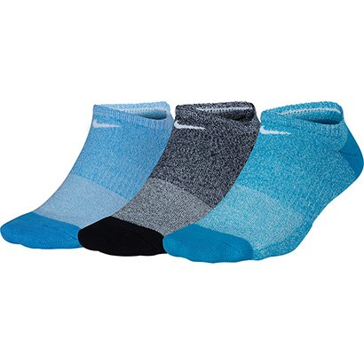 Meia Nike Sem Cano Everyday Cushion Pacote C/ 3 Pares Feminino