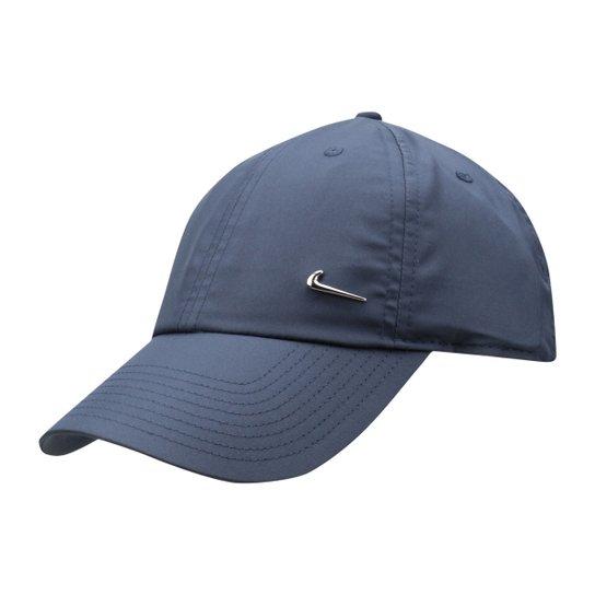 Boné Nike Aba Curva H86 Metal Swoosh - Azul Escuro - Compre Agora ... 1f96815db2a
