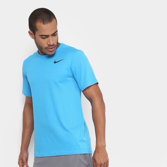 c8735e81d9 Camiseta Nike Brt Ss Vent Masculina - Azul e Preto - Compre Agora ...