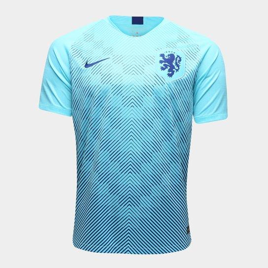 5dd4c6fe6 Camisa Seleção Holanda Away 2018 s n° Torcedor Nike Masculina - Azul