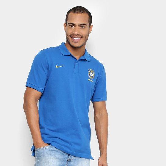 f4abfe2b97 Camisa Polo Seleção Brasil 2018 Nike Masculina - Azul - Compre Agora ...