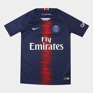 65853e7c3fe61 Camisa Paris Saint-Germain Juvenil Home 18 19 s n° Torcedor Nike