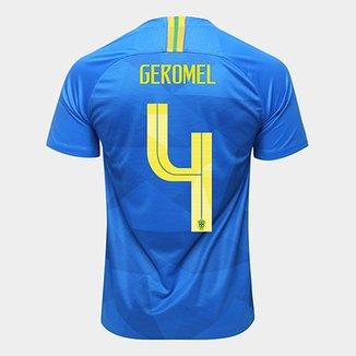 e1a75620a Camisa Seleção Brasil II 2018 nº 4 Geromel - Torcedor Nike Masculina