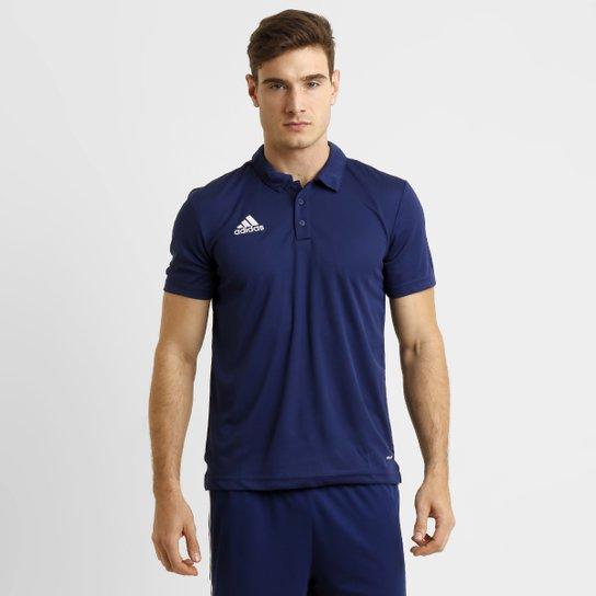 Camisa Polo Adidas Core 15 Masculina - Azul Escuro - Compre Agora ... bacd8e69c21b2