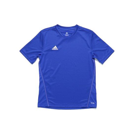 b5881df19156e Camiseta Manga Curta Infantil Para Menino Adidas Treino Core Azul 13  - Azul