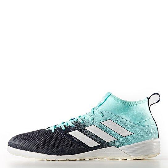 d4b7f76a440a7 Chuteira Futsal Adidas Ace 17.3 IN - Azul Claro e Marinho - Compre ...