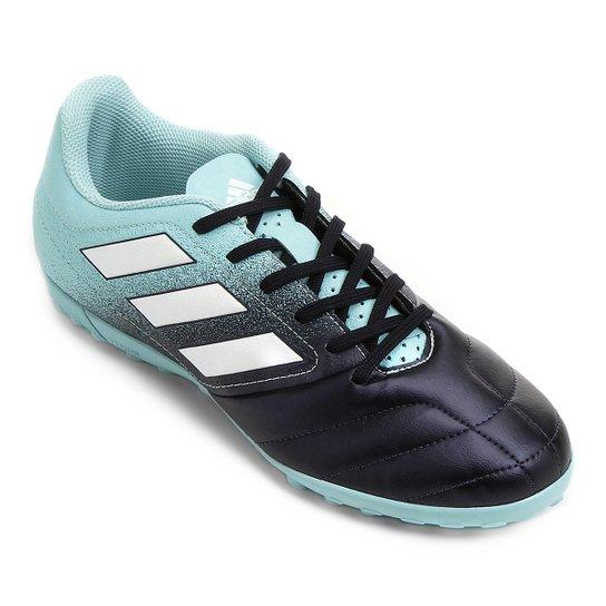 cb5e2a22a6fd0 Chuteira Society Adidas Ace 17.4 TF - Azul Claro e Marinho - Compre ...