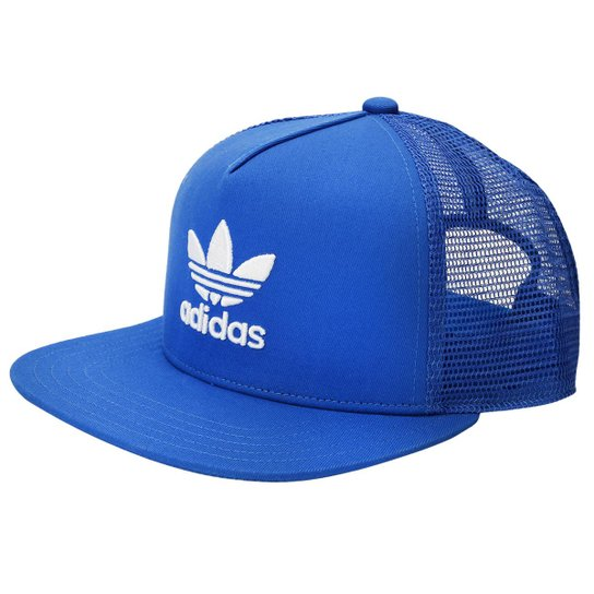 Boné Adidas Aba RetaTrucker Trefoil - Azul - Compre Agora  6f824bf0625