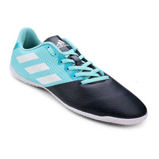 Chuteira Futsal Adidas Artilheira 17 IN - Azul e Marinho - Compre ... 38aafbc59fe7a