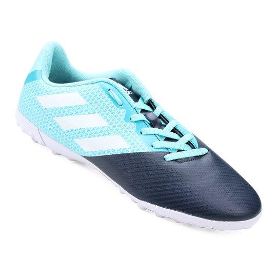 Chuteira Society Adidas Artilheira 17 TF - Azul e Marinho - Compre ... 917d4b7d6ec1c