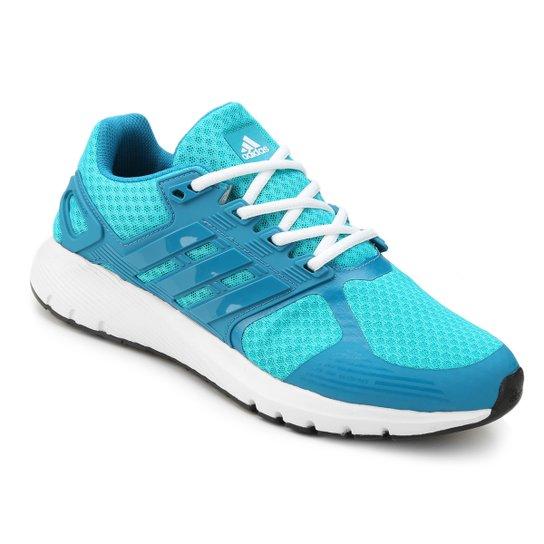 06e41211a5146 Tênis Adidas Duramo 8 Feminino - Azul Piscina e Azul Claro - Compre ...