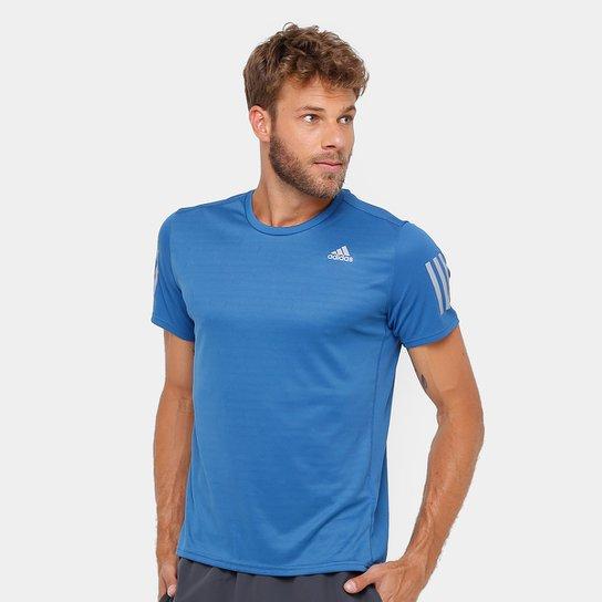 b42df200e801d Camiseta Adidas Response ClimaCool Masculina - Azul - Compre Agora ...