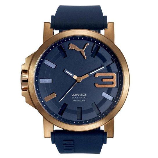 6dc57e47757 Relógio Masculino Puma 96252GPPSRU5 50mm Azul - Compre Agora