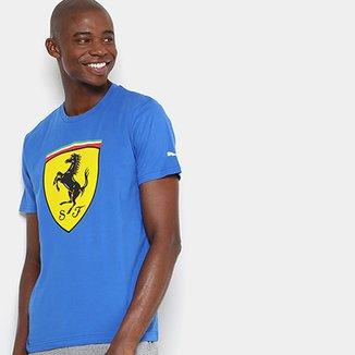 Camiseta Puma Scuderia Ferrari Big Shield Masculina 92a192cae6ba8