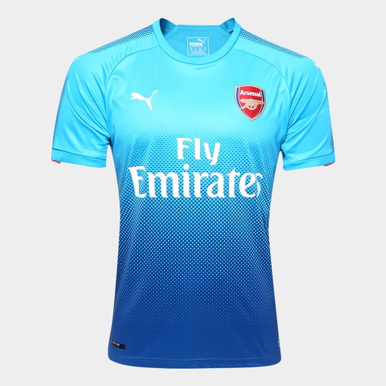Camisa Arsenal Away 17 18 s n° Torcedor Puma Masculina - Azul Turquesa d3a3f363b6a12