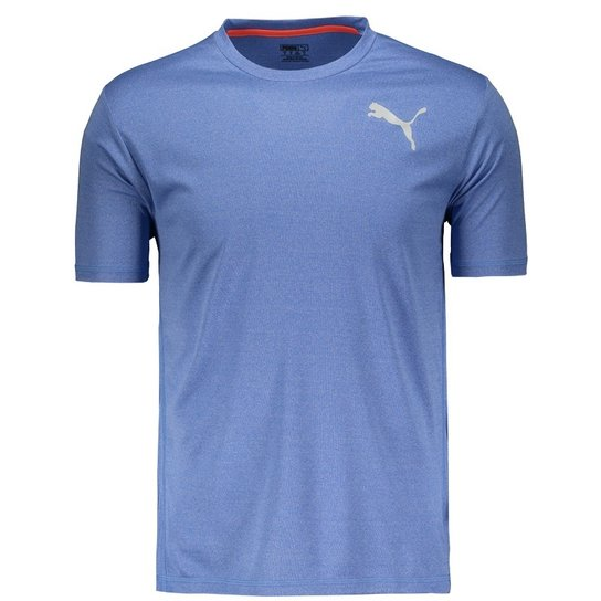 2a3e7c00da Camiseta Puma Essential Puretech Heather - Azul