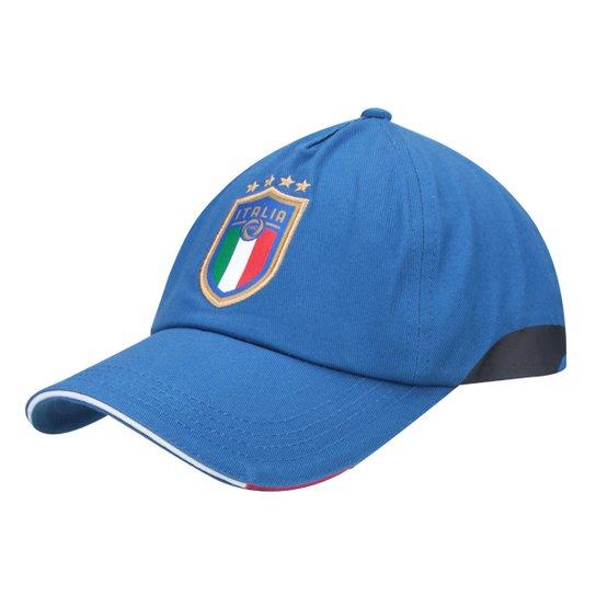Boné Puma Itália Aba Curva Training - Azul - Compre Agora  88015699c6f