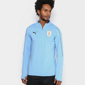 Camisa de Treino Manga Longa Seleção Uruguai Top Puma Masculina c43995be20e