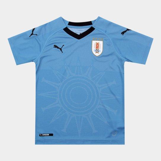 b2467ecf2f933 Camisa Seleção Uruguai Infantil Home 2018 s n° - Torcedor Puma - Azul+