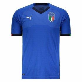 db51e53a06 Camisa Seleção Itália Home s n° 18 19 Jogador Puma Masculina ...