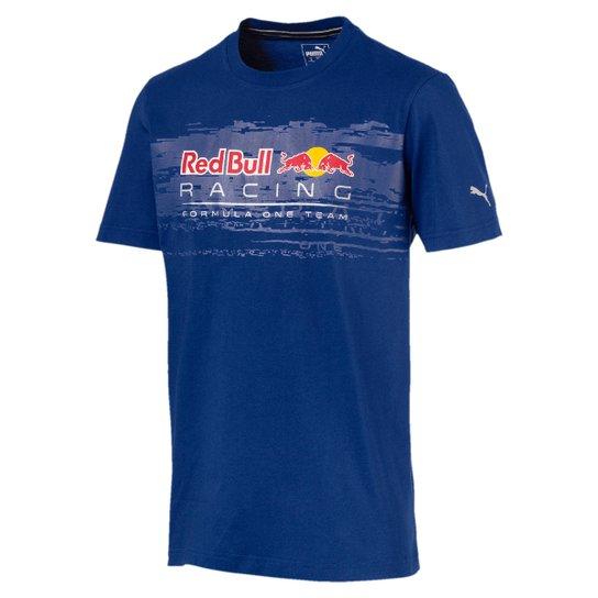 68a478ed5c83d Camiseta Puma Red Bull Racing Logo Tee Masculina - Azul - Compre ...