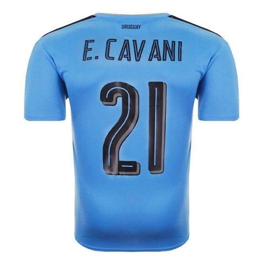 89cc02af4d Camisa Puma Uruguai Home 2016 N°21 E. Cavani Masculina - Azul ...