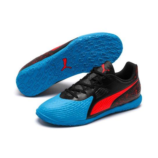 Chuteira Futsal Infantil Puma One 19.4 It - Azul e Preto - Compre ... 5af1e0608e651