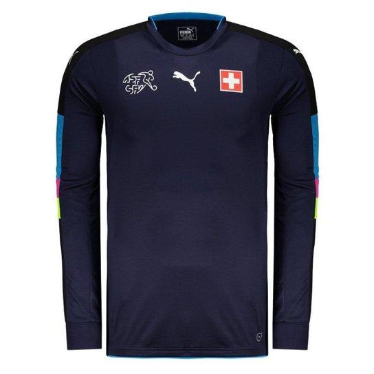 Camisa Puma Suíça Goleiro 2017 Masculina - Azul - Compre Agora ... be8fdb295c03f