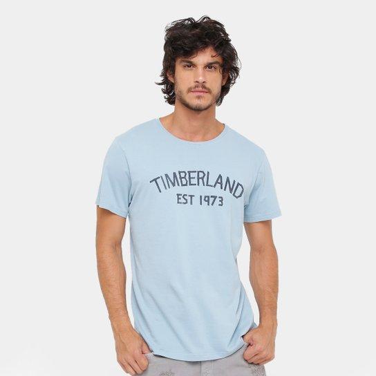 Camiseta Timberland Ss Tape Stone Masculina - Azul Claro - Compre ... 9f872f326abe3
