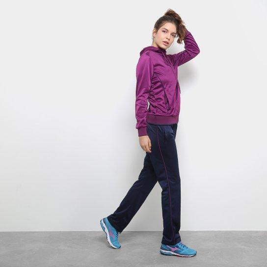 e698095fb9 ... Agasalho Mizuno Pocket Feminino - Roxo e Azul - Compre Agora Netshoes  74f025d96e9423 ...
