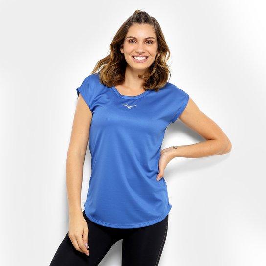 0e853a46b1 Camiseta Mizuno Fresh New Feminina - Azul - Compre Agora