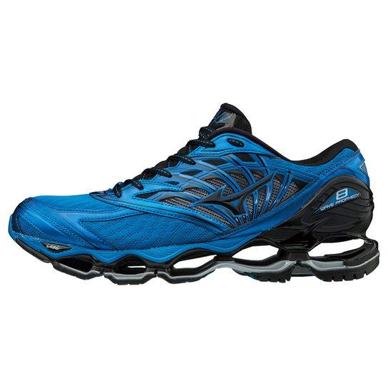 89e84317a09eb Tênis Mizuno Wave Prophecy 8 Masculino - Azul e Preto - Compre Agora ...