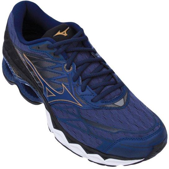 d77796f25f072 Tênis Mizuno Wave Creation 20 - Azul e Preto   Netshoes
